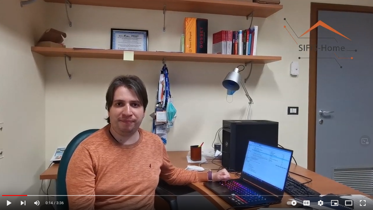 Andrea Saracino is leader in Sifis-Home. Watch all the video to hear what he is saying